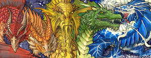Dragon Mural Concept by Damalia