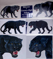 Panther Mascots by Damalia