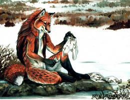 Fox and Grouse by Damalia
