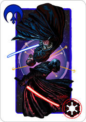Star Wars, the Face-Card by Damalia