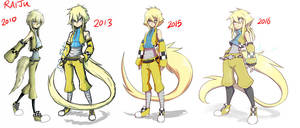Raiju Then And Now 3 by dragonmanX