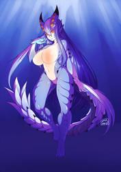 Commission - Xeno Girl by dragonmanX