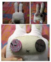 Creepy Bunny Plushie by BakaMichi