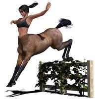 Jumping Centauress by hemi-426