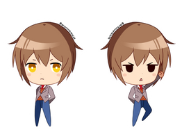 DDLC MC - Chibi Sprites by GyleToTheRescue