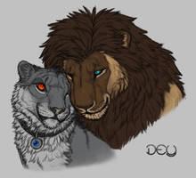 Dey and Asaku Cuddles by DeyVarah