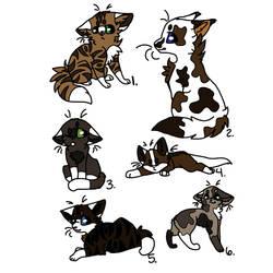 Cat Adopt 6/6 CLOSED by Petvet2004