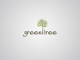 green tree logo by Darkmy1