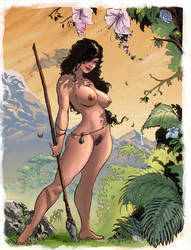 Jungle Woman Nude Colored by Lawbringer-Vypr