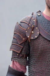 Brown leather armor by vofffka