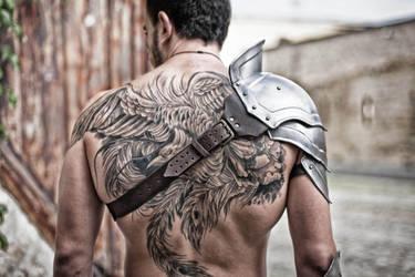 Steel Armor Pauldron Gladiator by vofffka
