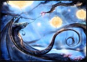 Night flower dragon by Mathildaw