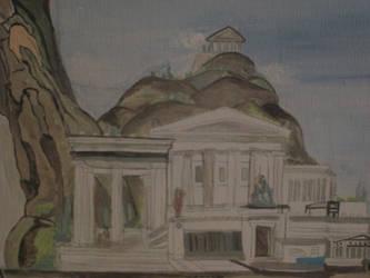 Delphi and Parthenon Athens by hikaphoenix