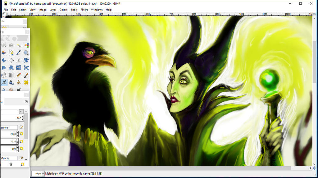 Maleficent WIP (2a) by homocynical by Homocynical