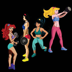4 Fit Princesses by firejio