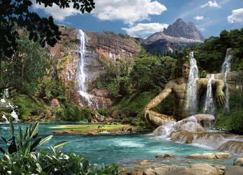 Waterfalls Mountain by HansPeterKolb