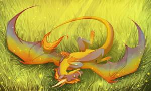 Rainbow Dragon by WrappedVi