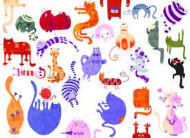 It,s raining cats by RocioGarciaART