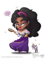 Esmeralda - Disney by RocioGarciaART