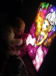 Adalia Rose opening her art light box by mandiemanzano