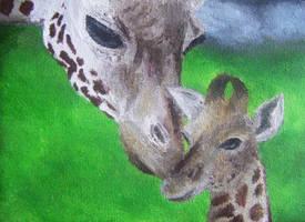 Giraffes. by HaanaArt