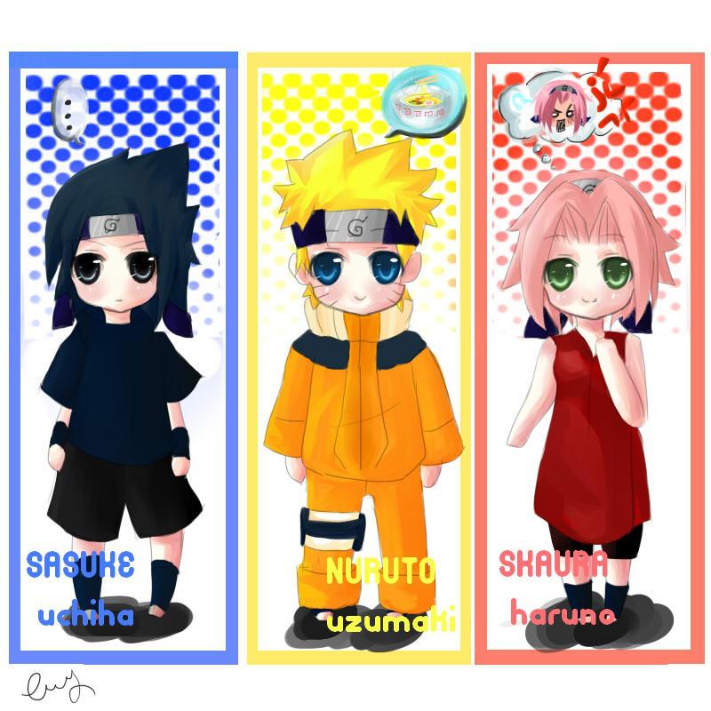 Chibi Naruto Bookmarks Culturebeeco