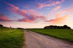 sunset road by artmobe