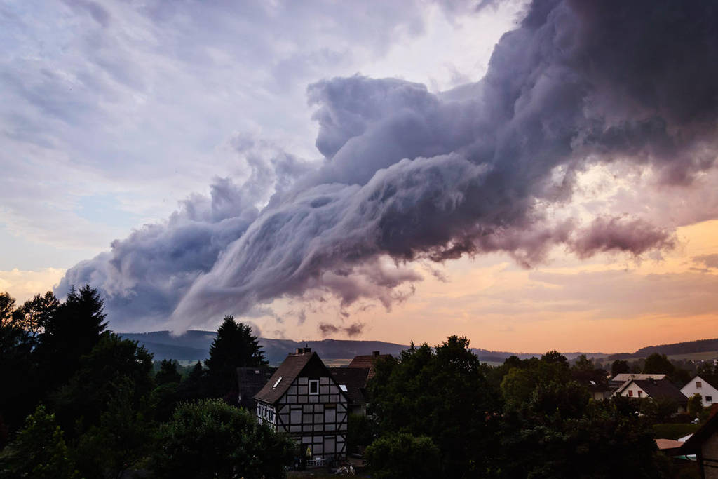 clouds after a storm by artmobe