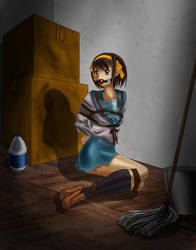 The Capture of Haruhi Suzumiya by damntwistedperson