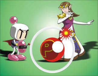 Super smash bros Bomberman Vs Zelda by shockersthetigerhog