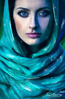 The women in scarf by Vervainvera
