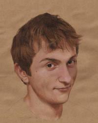 Self-Portrait: Head Study by Randy-man