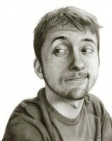 Self-Portrait: College Scruff by Randy-man