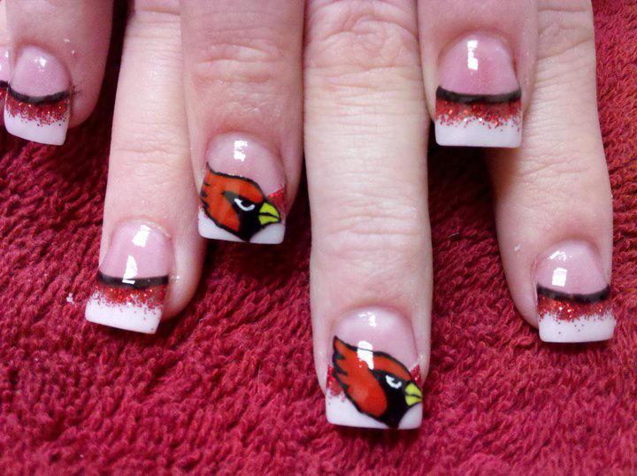 Arizona Cardinals Nail Art By Dignifieddoll
