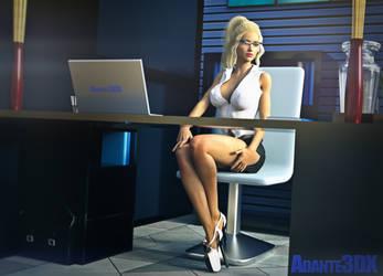 Sexy Secretary by Adante3DX
