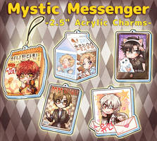 Mystic Messenger Charms by kata-009