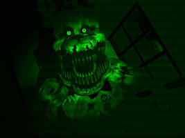 Fredbear  Seen with Night Vision by Cosmicmoonshine