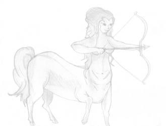 Female Centaur by supermegamimi