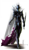 Drow Matron by JamesJKrause