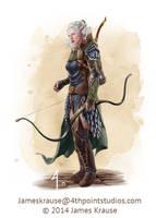 Dylania Traferra, Wolfhunter of Talistryn by JamesJKrause