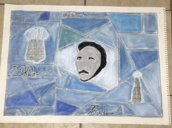 Nikola Tesla by artistefantome