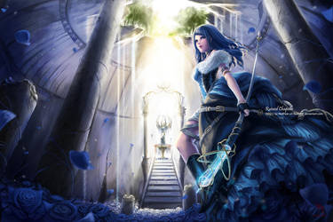 Blue Rose Queen 2 by RedPear