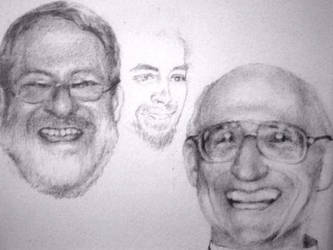 Dr John Frey, John ll,  Ernie by sarah-w