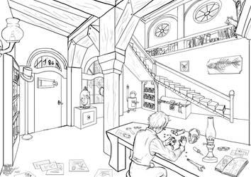 Strange laboratory by DragonaTodd