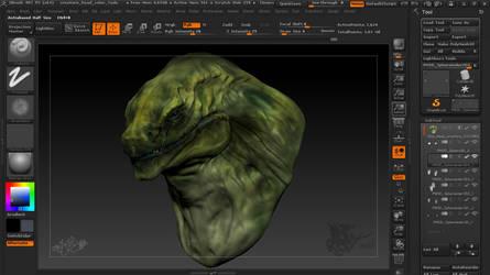 Creature Bust by DragonaTodd