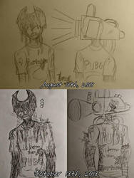 Art Comparison: BaTIM Art (2 Moths Difference) by ThanosPagkidis