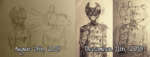 Art Comparison: BaTIM Art {4 Months Difference} by ThanosPagkidis