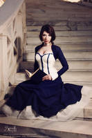 Bioshock Infinite Cosplay: Liz And Her Book by IreneAstral
