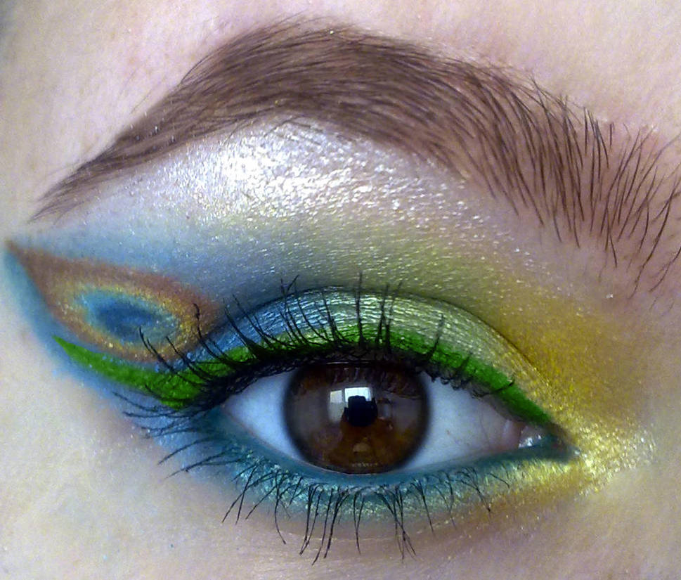 request: peacock inspired look by KatelynnRose