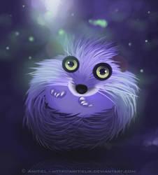 Dreamy hedgehog by Amitielik
